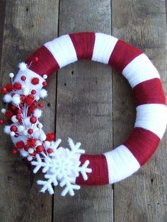 Christmas Wreath and then take off Christmas decor and add IU basketball decor.