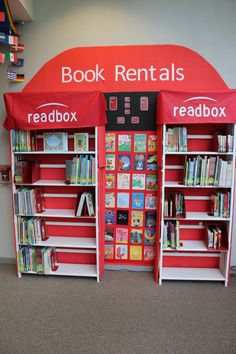 One of the displays in our Children's department this summer!Kids get a kick out of their Readbox book kiosk!