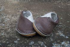 ENVELOPE shoes Brown Gray Handmade natural от BureBureSlippers