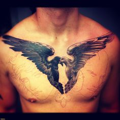 chest wing tattoo - Google Search