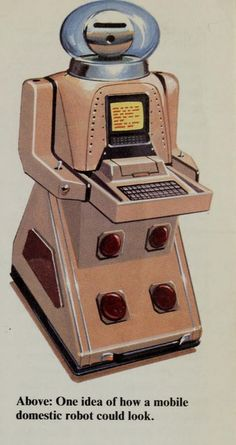 Mike Sharp, Robot World (1985) Reminds me of the Jetsons robot, Rosie