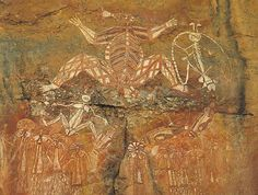 Aboriginal art covers the walls of Nourlangie Rock, located in Kakadu National Park