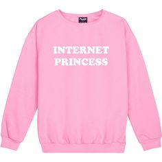 Internet Princess Sweater Jumper Funny Fun Tumblr Hipster Swag Grunge... ($21) ❤ liked on Polyvore featuring tops, black, sweatshirts, women's clothing, punk tops, star print top, hipster tops, retro tops and goth tops