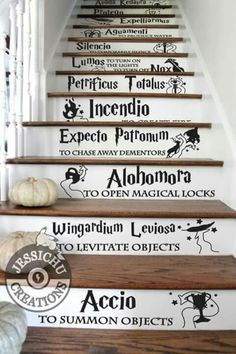 We should do this to the stairs in the barn...