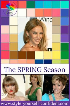 Seasonal color analysis Spring http://www.style-yourself-confident.com/seasonal-color-analysis-spring.html