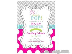 Baby Shower Invitations: Baby Shower Invitations Template Polkadot Pink Wave Strip Design, Cool Baby Shower Invitations Template Inspiration Design Create Your Own Baby Shower Invitations Baby Shower Invitations for Boys Free Printable Baby Shower Flyers