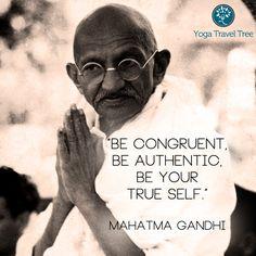 authentic self gandhi quote yogatraveltree