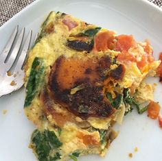 Fall Frittata (Sweet Potato and Spinach)