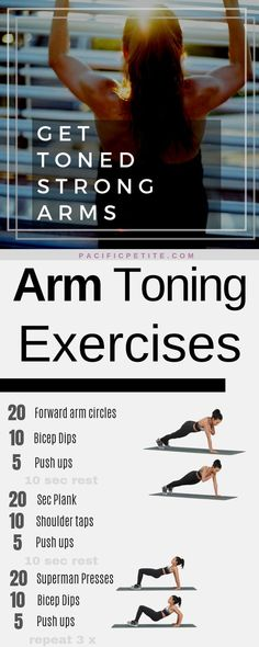Toned arms workout plan