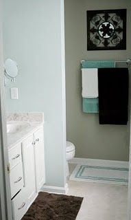 What our bathroom would look like if we removed the ugly tile and painted