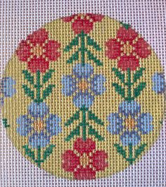 Beautiful Hand Painted HP Ornament Needlepoint Canvas 18 mesh Geometric