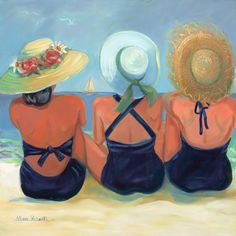 Three Sisters Original oil painting