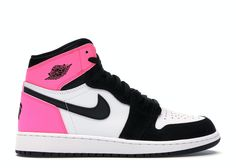 Shop Women's Jordan Pink White size Sneakers at a discounted price at Poshmark. Description: Pink, Black & White High Top Air Jordan Ones. Women's Shoes, Nike Air Shoes, Hype Shoes, Nick Shoes, Dance Shoes, Jordan Shoes Girls, Girls Shoes, Nike Jordan Shoes, Cute Sneakers