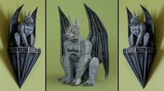 Halloween - Gargoyle Sculpture Free Papercraft Download - http://www.papercraftsquare.com/halloween-gargoyle-sculpture-free-papercraft-download.html#Gargoyle, #Halloween, #Sculpture