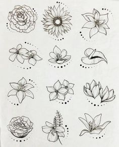 Flower Drawing Discover 44 Ideas flowers drawing tattoo sketches inspiration for 2019 Easy Flower Drawings, Beautiful Flower Drawings, Flower Drawing Tutorials, Flower Art Drawing, Flower Sketches, Floral Drawing, Mandala Drawing, Drawing Ideas, Drawings Of Flowers