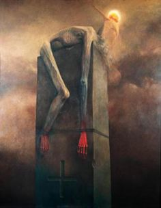 Resurrection was thou command and so shall it be! Arte Horror, Horror Art, Arte Digital Fantasy, Art Visionnaire, Satanic Art, Arte Obscura, Macabre Art, Creepy Art, Dark Fantasy Art