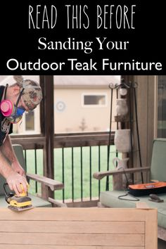 Before sanding your outdoor teak furniture, check out this post so that you learn what to do and not do when restoring your outdoor patio furniture! Teak is a hardwood and while it is beautiful when it weathers, sometimes, you just want to restore it to that golden honey color. Check out this post to learn what to do and not do!