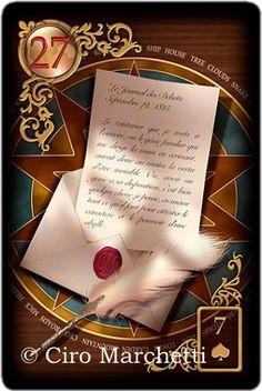 Gilded Reverie Lenormand, letter