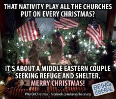 The GOP Governors do not have the Constitutional Right to prevent Syrian Refugees from entering their States . These Governors Revel in Fear Mongering and Instigating Hate. Immigration Policy is a Federal Government Function Bernie Sanders, Merry Christmas, Christmas Ornaments, Christmas Humor, Christmas Time, You Draw, Nativity, Religion, Make It Yourself