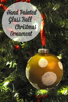 Hand Painted Christmas Ball Ornament Tutorial