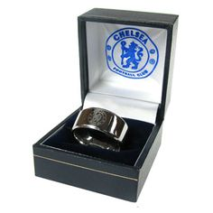 CHELSEA F.C Stainless Steel Band Ring. Size - X. In gift box. Official Licensed Chelsea FC Gift. FREE DELIVERY ON ALL OF OUR GIFTS