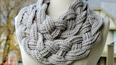 how to crochet a braided scarf - YouTube