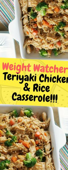 Weight Watcher's Teriyaki Chicken & Rice Casserole - One of food