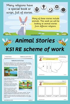 Use PlanBee's 'Animal Stories' scheme to introduce your Year 1/2 class to five popular religions of the world: Christianity, Judaism, Islam, Buddhism and Sikhism, and help them to learn about religion and from religion.  Each lesson in this KS1 RE planning pack focuses on a particular story from each religion and encourages children to think carefully about different beliefs and what each story teaches.   This 'Animal Stories' pack includes plans, slideshows and differentiated worksheets. Sikhism Beliefs, Judaism, Noah's Ark Story, Sequencing Pictures, Christian Stories, Jonah And The Whale, Tiger Skin, Work With Animals, Teacher Notes