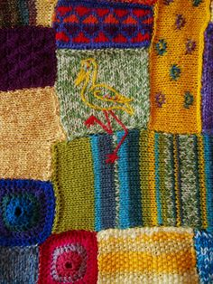 Wish Blanket - OOAK hand knit blanket to be knit in double bed size in your choice of colors and patterns (mine will look a bit different, I'm sure j. Knitting Projects, Crochet Projects, Knitting Patterns, Crochet Patterns, Knitted Afghans, Knitted Blankets, Knit Or Crochet, Crochet Motif, Hand Knit Blanket