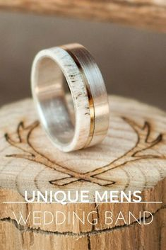 UNIQUE MENS WEDDING BANDSA CURATED LIST OF UNIQUE MEN'S WEDDING BANDS FROM AROUND THE WORLD Supernatural Style #uniqueweddingrings #WeddingIdeasForMen