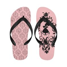 Umbrella Girl Flip Flops #stellasaksa #umbrella #girl #flipflops #pink