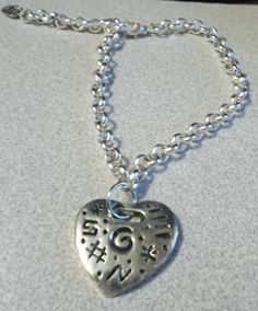 Pretty heart charm anklet by Patrisha Black. by RoseFireDesigns