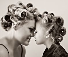 A fun mother/daughter photo to take together!  #Hairdresser #Mommy #MotherDaughter