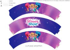 Girl Birthday Decorations, Birthday Party Themes, Paper Cake, Shimmer N Shine, Cupcake Wrappers, Printables, Free Printable, Mickey Mouse, Party Ideas