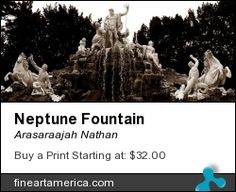 Neptune Fountain in Schönbrunn Palace. The World's Greatest, Fine Art America, Palace, Fountain, Places To Visit, Wall Art, Artwork, Artist, Work Of Art
