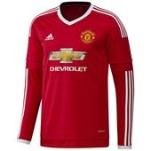 Manchester United Home Shirt 2015/16 - Long Sleeve Red