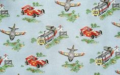 Cath Kidston Cars and Airplanes Cotton Canvas