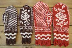 Ravelry: Vantar med rosmönster pattern by Sylvia Olsson -- Free Pattern Loom Knitting, Knitting Socks, Knitting Patterns Free, Free Knitting, Crochet Patterns, Free Pattern, Knitting Charts, Knitting Ideas, Mittens Pattern