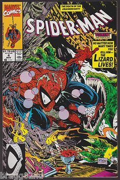1990 Marvel Comics SPIDER-MAN #4 Todd McFarlane THE LIZARD