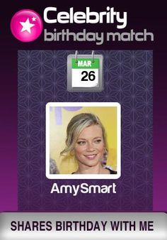 Which famous celebrity shares your birthday? Find at http://apps.funphotolab.com/my_birthday_match