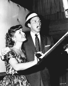 Frank Sinatra and Debbie Reynolds 1955