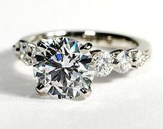 Floating Diamond Engagement Ring in Platinum #BlueNile