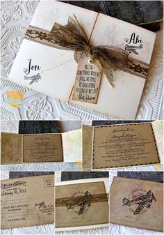 vintage aviation, travel wedding invitation / Sunshine and Ravioli