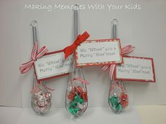 """We """"Whisk"""" you a Merry Christmas Easy DIY gift for neighbors or co-workers (I would add a cute/small mixing bowl)"""
