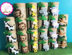23 Clever DIY Christmas Decoration Ideas By Crafty Panda Jungle Party, Safari Party, Jungle Theme, Safari Theme Birthday, Birthday Party Themes, Boy Birthday, Animal Birthday, First Birthday Parties, First Birthdays