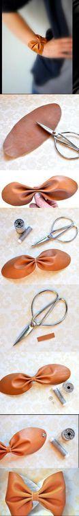 DIY Easy Bow Bracelet DIY Projects / UsefulDIY.com on imgfave