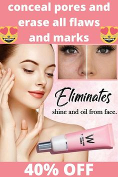 The Pore Concealer Primer Cream acts as an aide for oil control and tightens the skin on impact. It minimizes the appearance of pores and fine lines for an instantly smooth-looking complexion. Remove Unwanted Facial Hair, Unwanted Hair, Mascara Hacks, Hair Removal Methods, Younger Looking Skin, Look Younger, Oil Control, Tips Belleza, Skin Makeup