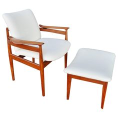 Finn Juhl Teak Lounge Chair and Ottoman for France