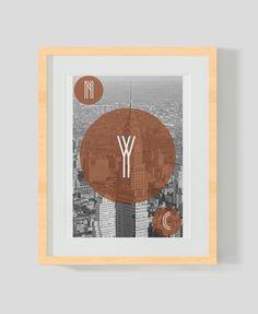 New York Art Deco Photography Minimal Print. $29.00, via Etsy.