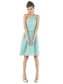 Alfred Sung bridesmaid dress (Fabric: Dupioni; Color: Seaside; Available in 26 colors)